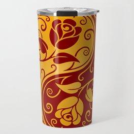 Yellow and Red Yin Yang Roses Travel Mug