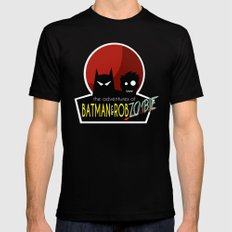 The Adventures of Bat man and Rob Zombie MEDIUM Mens Fitted Tee Black