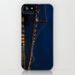Bay Bridge at Night iPhone Case