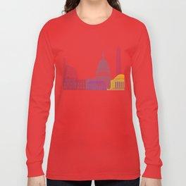 Washington DC skyline pop Long Sleeve T-shirt