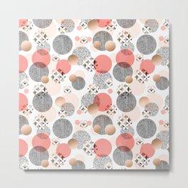 Pattern mosaic and abstract shapes Metal Print