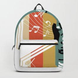 Retro Bass Guitar Backpack