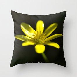 Petals of yellow  Throw Pillow