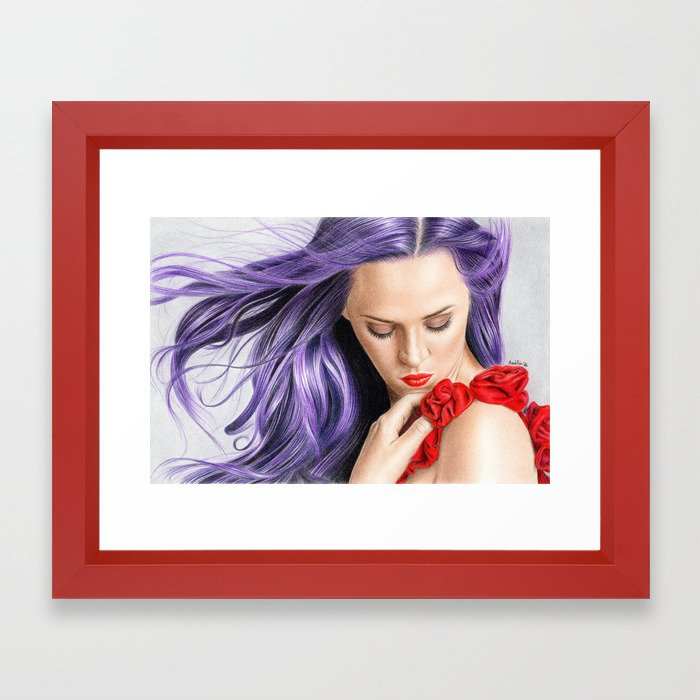 Red! Framed Art Print