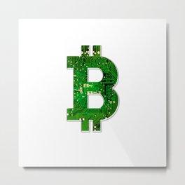 Bitcoin - Circuit Variant Metal Print