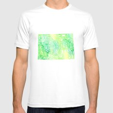 Typographic Colorado - green watercolor White Mens Fitted Tee MEDIUM