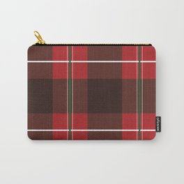 Red, Black and Green Striped Plaid Carry-All Pouch