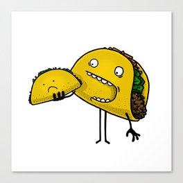 Taco Eater Canvas Print