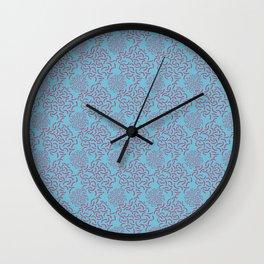 Neo Memphis Coordinate Blue Pink Wall Clock