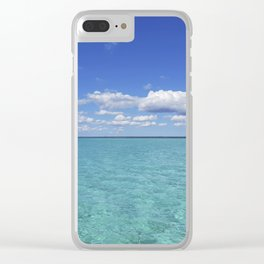 caribbean sea Clear iPhone Case