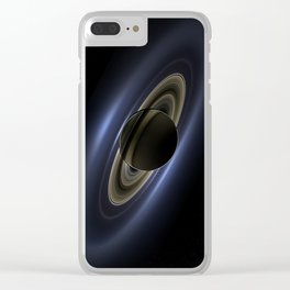 Saturn Love Clear iPhone Case