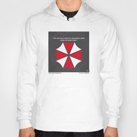 resident evil Hoodies featuring No119 My RESIDENT EVIL minimal movie poster by Chungkong