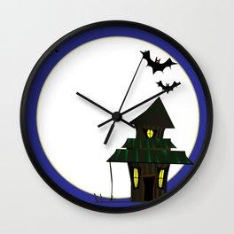 Halloween Cottoge Wall Clock