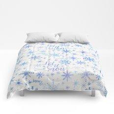 Let It Snow Winter Pattern Comforters