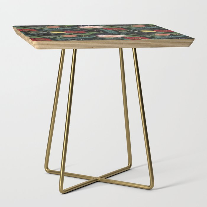 Botanical_and_Black_Pugs_Side_Table_by_Huebucket__Gold__Square