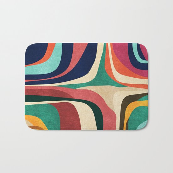 Impossible contour map Bath Mat