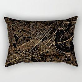 Black and gold Ho Chi Minh map, Vietnam Rectangular Pillow