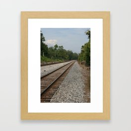 Railroad Tracks To No Where Framed Art Print