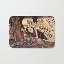 Takiyasha the Witch and the Skeleton Spectre, by Utagawa Kuniyoshi Bath Mat
