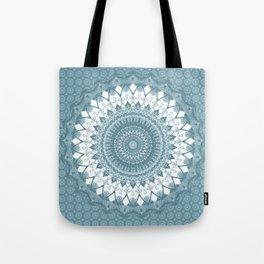 Boho Blue Mandala Tote Bag