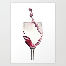 Relax, there's wine! Art Print