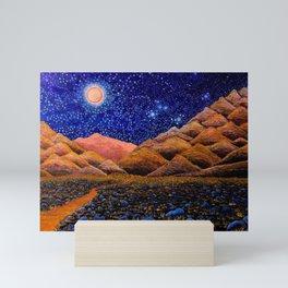'Further Glories,' Full Moon, San Jacinto Mountains, Palm Springs landscape by Clark T. Carlton Mini Art Print