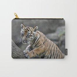 Curious Sumatran Tiger Cub Carry-All Pouch