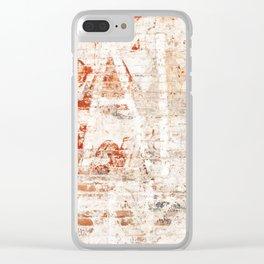 Red Brick Wall Graffiti Clear iPhone Case