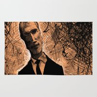 gangster Area & Throw Rugs featuring Gangster No.1 by Cadmium Craig