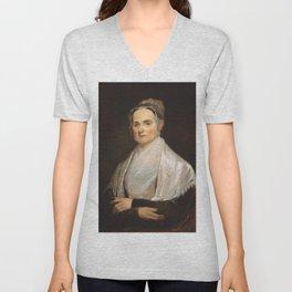 Lucretia Coffin Mott Oil Painting Portrait Unisex V-Neck