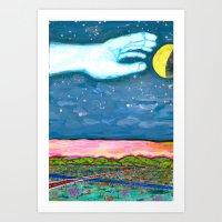 Moon Grab Art Print