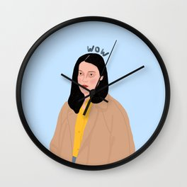 An Unimpressed 'wow' Wall Clock