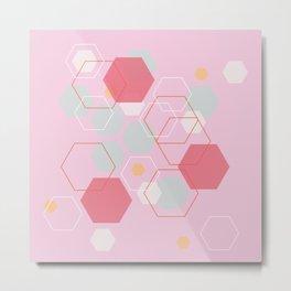 Hexagon Sweetarts Metal Print