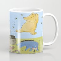 winnie the pooh Mugs featuring Winnie the Pooh by Marilyn Rose Ortega