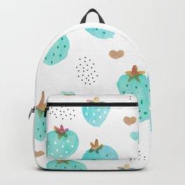 Strawberry summer love tropical hawaiian fruit Backpack