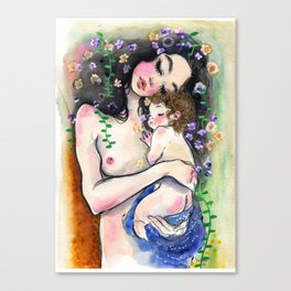Klimt: Mother and Child 1 Canvas Print