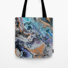 Molten Time (flow art on canvas) Tote Bag