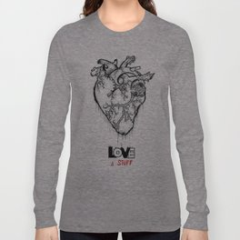 Heart Of Hearts: Outline & Stuff Long Sleeve T-shirt