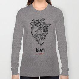 Heart Of Hearts: Outline & Stuff Long Sleeve T-shirt
