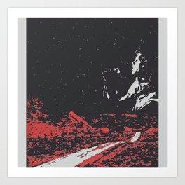 Dawn's Highway Bleeding - The Doors Art Print