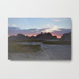 Sunrise over the Badlands Metal Print
