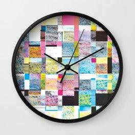 Summer Glitch Wall Clock