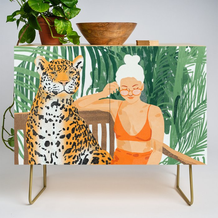 Jungle Vacay #painting #illustration Credenza