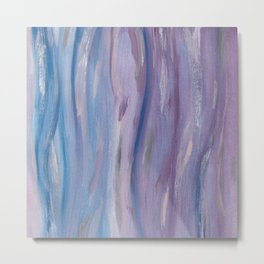Touching Purple Blue Watercolor Abstract #2 #painting #decor #art #society6 Metal Print