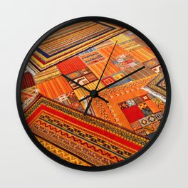 Turkish rugs in Kusadasi Wall Clock