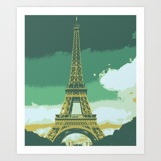 Eiffel Tower Paris Pop Art Art Print