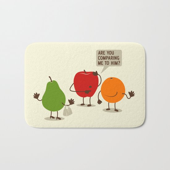 Like Apples and Oranges Bath Mat