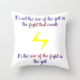 fight in the girl Throw Pillow