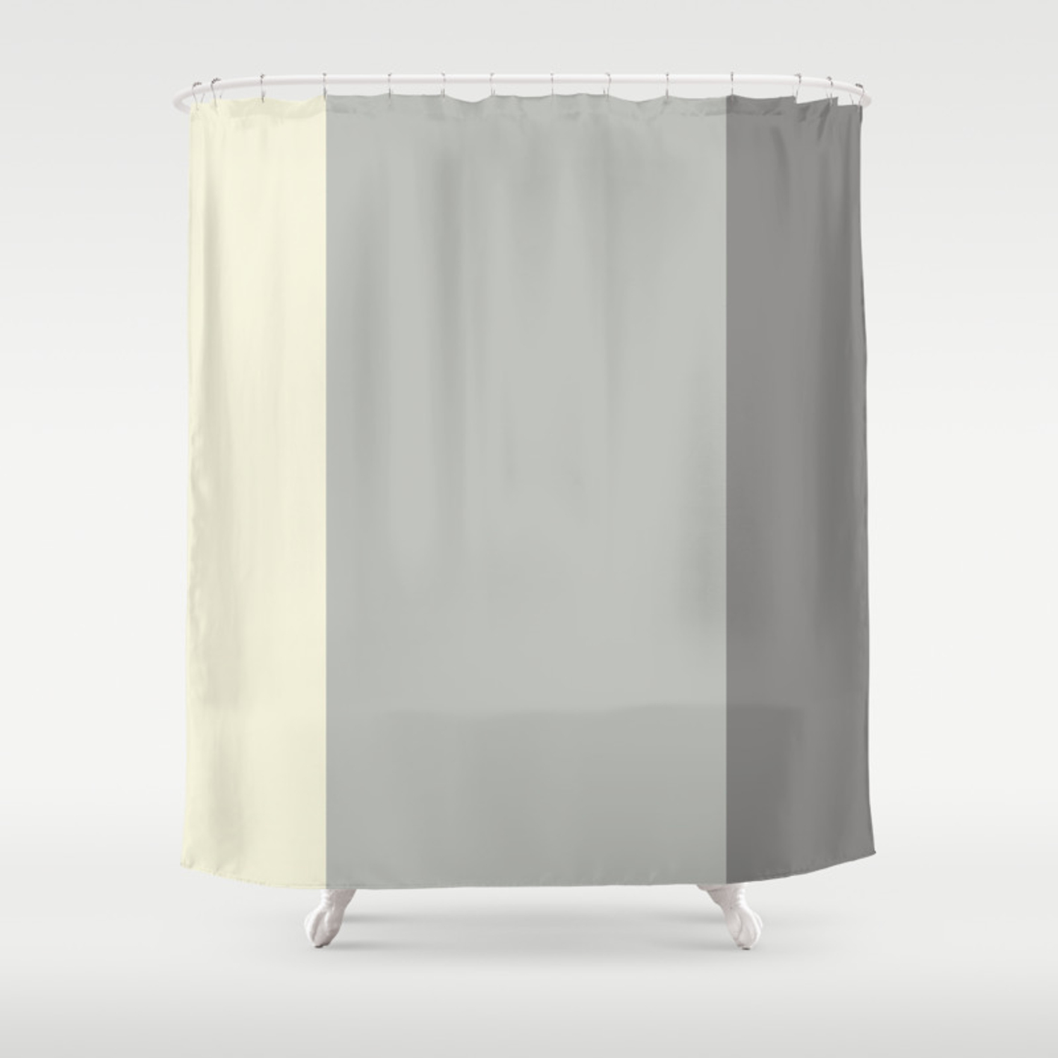 Benjamin Moore 2019 Coy Metropolitan Lemon Chiffon And Cinder Dark Gray Bold Vertical Stripes Shower Curtain