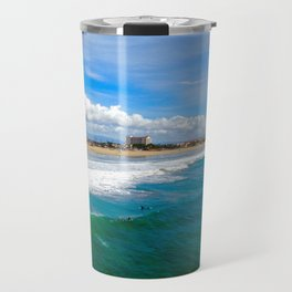 Huntington Beach Surfers Travel Mug